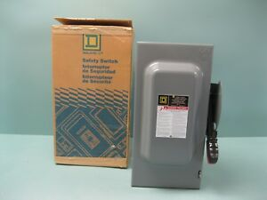 Square d Hu362 Heavy Duty Safety Switch 60a New H6 2362