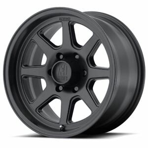 1 New 17x9 18 Kmc Xd301 Turbine Satin Black Wheel Rim 8x170