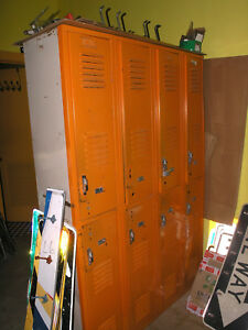 Orange Metal School gym workshop garage Lockers Local Pick Up Huntsville Texas