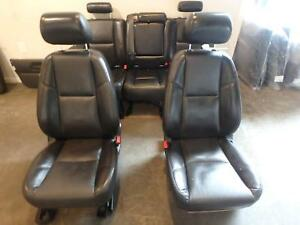 07 14 Cadillac Escalade Ext Front Rear Seat Black Leather Power Heat Oem