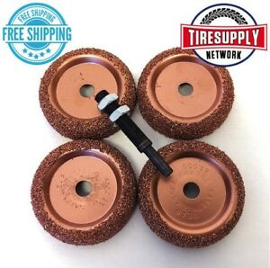 5pc Tire Changer Inner Liner Buffer Wheels Disc Radial Repair Patch Bc1 14 324