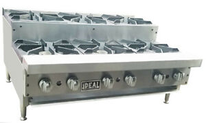New 36 Commercial Step Up 6 Burners Hot Plate By Ideal Made In Usa Nsf etl