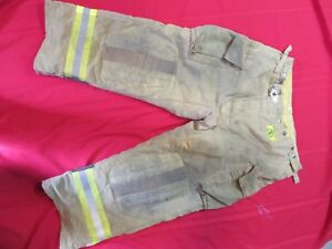 2007 Morning Pride Fire Fighter Turnout Bunker Pants 42 X 30 Snap Out Liner