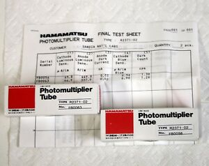 2 New Hamamatsu R2371 Compact Uv Photomultiplier Tubes W Base Data R6353 Pmt