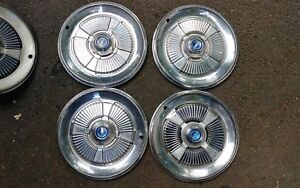1965 Ford Galaxy 15 In Hubcaps Wheel Covers Nice Set Of 4