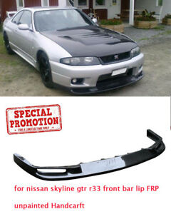 New Jun Style Front Bumper Bottom Lip Wing For Nissan Skyline Gtr R33 Frp Parts