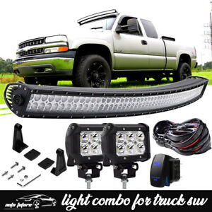 1999 06 Chevy Silverado Tahoe Suburban Upper Roof 54 Curved Led Light Bar Combo