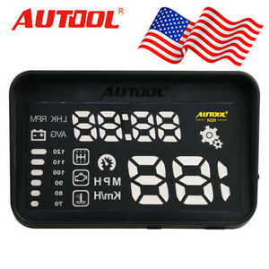 Autool X220 Obd2 Mph Kpm Speed Warning Head Up Display Multi Function Usa