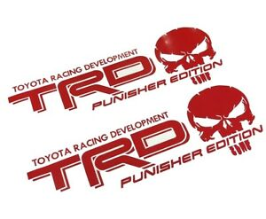 Trd Punisher Edition Decals For Toyota Tacoma Tundra Truck Vinyl Stickers Set