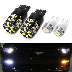Switchback Led Turn Signal Light Bulbs W Led Parking Lights For 2015 17 Mustang