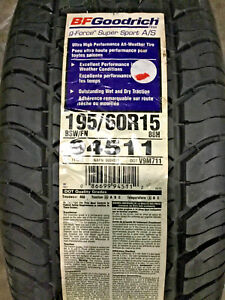 4 New 195 60 15 Bfgoodrich G Force Super Sport A S Tires