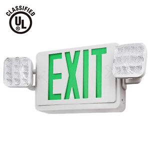 Led Emergency Light With Battery Ul listed Green Exit Sign Light Pack Of 2 6