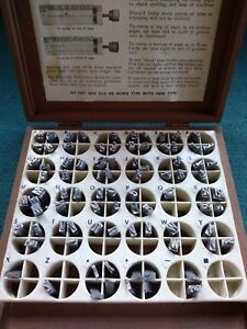 Kingsley Foil Machine Stamping Machine 18th Century Type Set 18pt Capitals