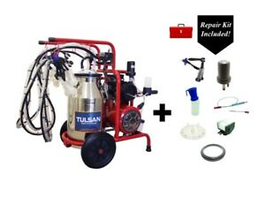 Tulsan Goat Quadruple Milking Machine Electric With Repair Kit Box Included