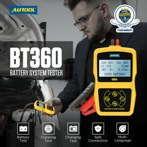 Autool Bt 360 12v Car Charging Test Analyzer Vehicle Battery System Tester Usa