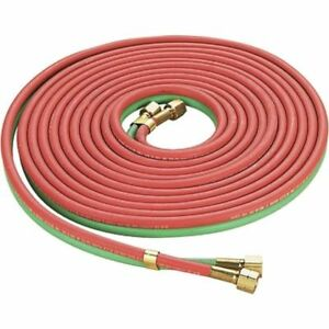 Twin Welding Hose Oxygen Acetylene 25 Ft 1 4 Red Green Home Auto Garage 300 Psi