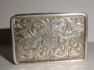 Antique 1830 S English Sterling Silver Vinaigrette Box Birmingham Francis Clark