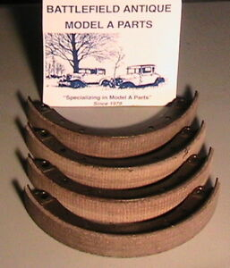 1928 1929 1930 1931 Model A Ford Brake Shoes With Molded Woven Linings 2 Wheels