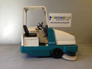 Tennant 6600 Lp Rider Floor Sweeper Re manufactured 415 Hours free Shipping