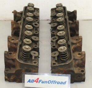 Ford Fe 390 428 Cylinder Heads Pair C7ae A