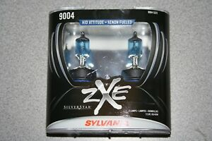 Sylvania Silverstar Zxe 9004 Pair Set Headlight Bulbs Xenon Fueled New