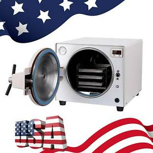 18l Medical Steam Autoclave Sterilizer Dental Lab Equipment Full Warranty