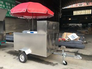 New Stainless Steel Mobile Food Cart Catering Trailer Kitchen Shipped By Sea