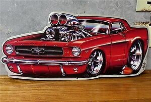 Ford Mustang Vintage Style Metal Tin Garage Signs Man Cave Boss Custom Hot Rod