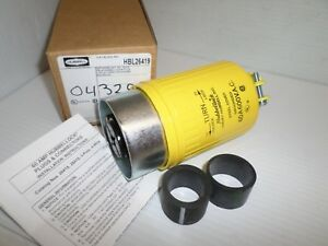 new In Box Hubbell Hbl26419 hubbellock Plug 60 amp 60a 600v 3p 4w