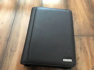 Franklin Covey Espresso Dark Brown Chocolate Leather Zip Binder Planner 7 Rings