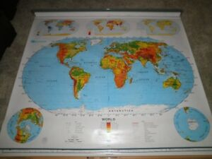 Nystrom 1sr991 Pull Down World U S A School Map America Us Home School Markable