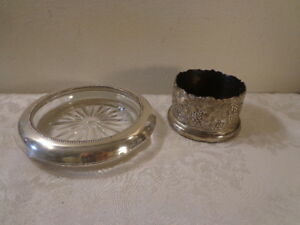 Vintage Wine Bottle Holder Sterling Silver Wine Coaster Frank Whitting