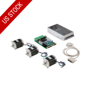 Us Free Ship 3axis Stepper Motor Nema23 270oz in 3a Driver Board Tb6560 Cnc