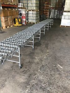 Nestaflex 275 32ft Section Flexible Roller Conveyor Belt Adjustable Height