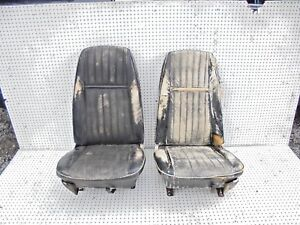 1970 Maverick Front Bucket Seats With Seat Tracks Pair
