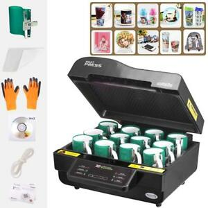 3d Vacuum Sublimation Heat Press Machine Transfer Phone Cases Mugs Printer Black