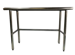 Commercial Stainless Steel Work Table With Crossbar 24 X 24 Nsf