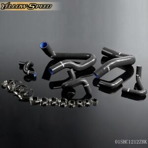 Silicone Radiator Hose Kit Black For 1986 1993 Ford Mustang Gt Lx Cobra 5 0