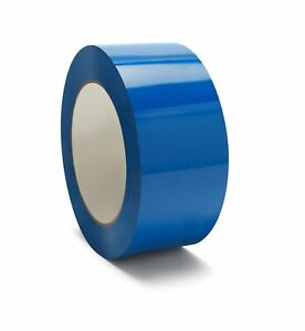 Blue Color Carton Sealing Packing Tape 2 X 55 Yds 165 Ft 2 Mil 144 Rolls
