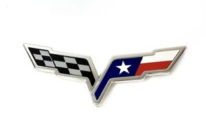C6 Corvette Texas Flag Emblem Overlay Fits Front Rear And Waterfall