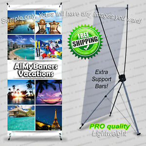 Self Standing Sign All Included Strong Sign Portable Stand Basic Design stn