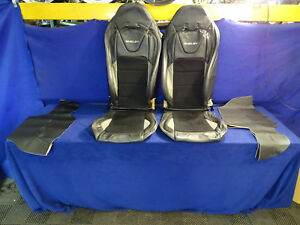 15 16 17 18 Mustang Shelby Leather Suede Recaro Seat Covers Front Seats