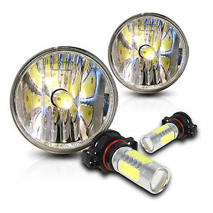 Fit 15 18 Chevy Colorado Replacement Fog Lights Pair W Cob Led Bulbs Clear