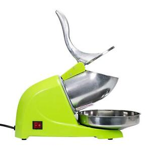 Green Commercial Dual Blade 143lb h Ice Shaver Crusher Shaved Ice Maker Machine