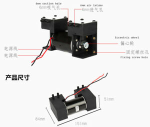 Micro Air Pump Double Head Brushless Medical Beauty Special High Vacuum Pump