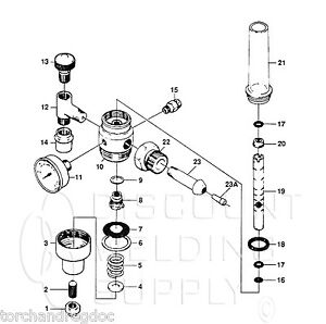 Repair Kit victor 0790 0119 Hrv hrf 2380 Regulator flowmeter Complete Av2380rk