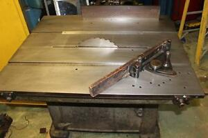 Vintage Tannewitz Model B Dual Arbor Sliding Tilting Table Saw Bench
