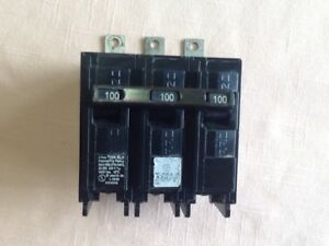 Siemens Blh B3100h Circuit Breaker 100 Amp 3 Pole 240 Volt 22ka bolt On