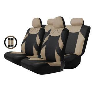 New Beige Racing Car Seat Covers Cushions Chairs Summer Winter Pad Air Mat Set