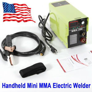 Handheld Mini Mma 200 Electric 110v Inverter Welder Welding Machine Tool Portabl